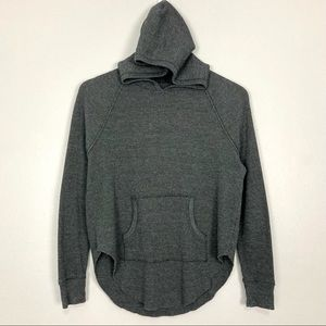 Aritzia Tna Nevado Thermal Hoodie Sweatshirt Gray